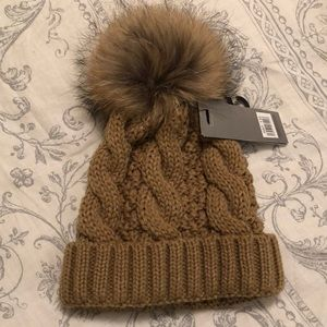 Accessories - From Ireland - Beanie hat with pompom - tan